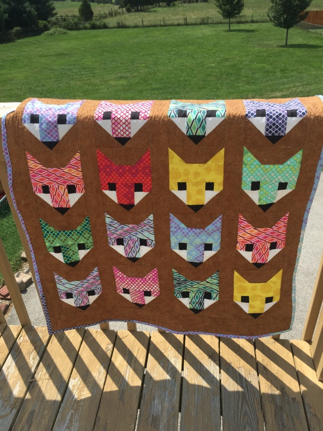 Lisa's Fancy Foxes Quilt