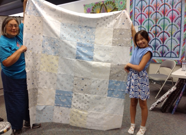 Kaitlyn's First Quilt (came to sew with Grandma Alison)
