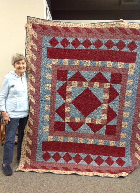 Thanks to Katrina and Doodles, Zita's quilt is finally done!