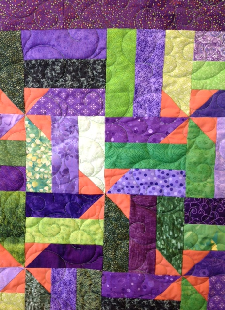 Joe's Pinwheel Quilt Close-Up