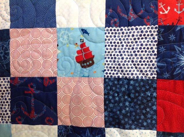 Mary's Baby Quilt with Minkie Back