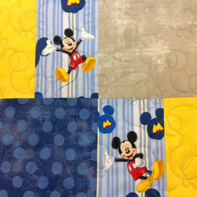 Close-Up of Sandy's Micky Mouse Quilt