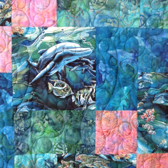 Close-Up of Anne M's Sealife Quilt