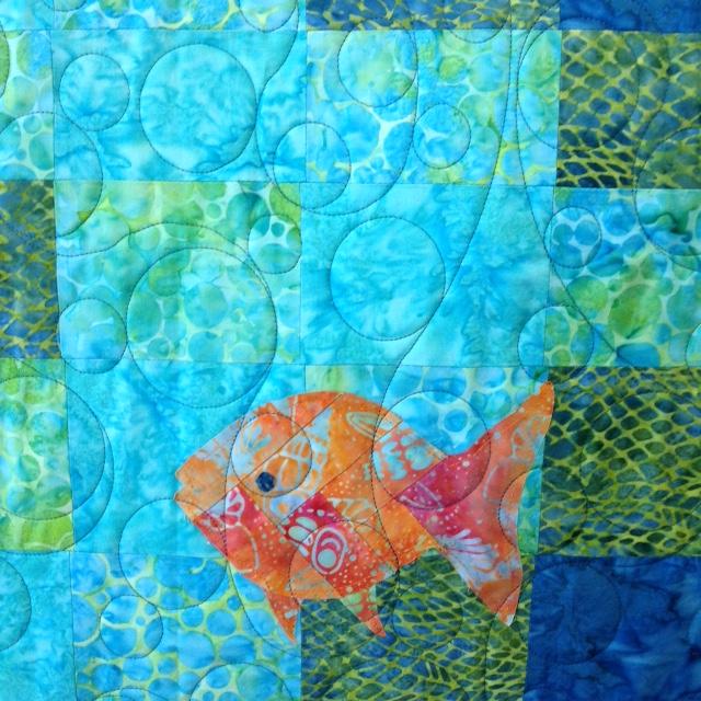 Close-Up of Lisa's Fish Bargello