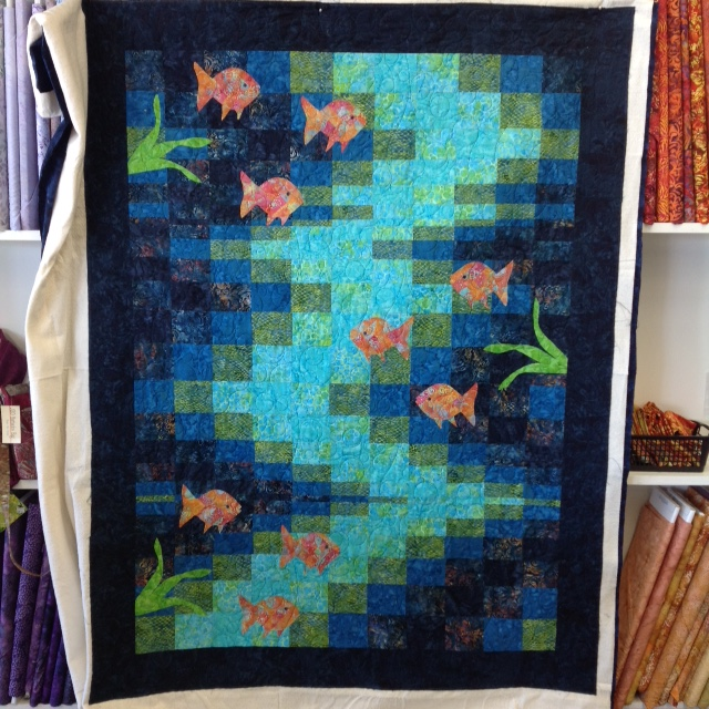 Lisa B.'s Fish and Bargello Quilt