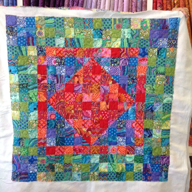 Kay B.'s Baby Quilt with Kaffe